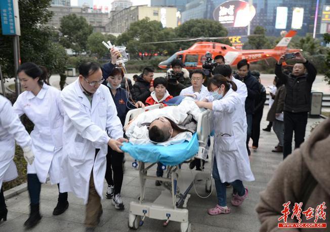 湖南人保财险紧急启动直升机生命救援